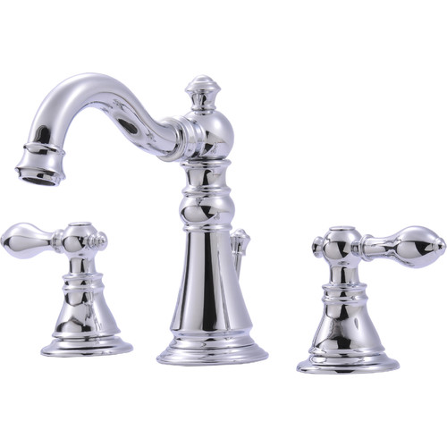 Ultra Faucets UF55110 2-Handle Chrome Lavatory Faucet with Pop-Up Drain