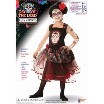 CHCO - DOD-ROSA SENORITA - SML - Spanish Senorita Costume