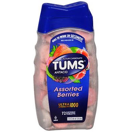 Tums Ultra Assorted Berry, 72- Count