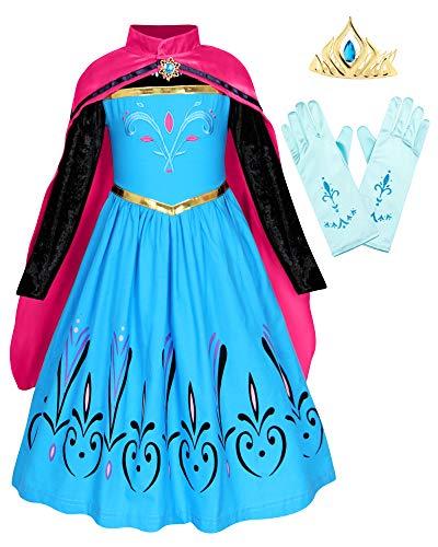 Blue Child Long Gloves Princess Queen Costume Costume Wedding Christmas Gift Birthday Princess Gloves for Little Girl