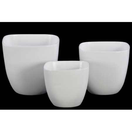 Urban Trends Collection: Ceramic Pot Coated Finish (Coated Pot)
