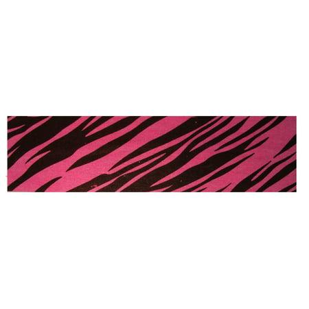 Kenz Laurenz Cotton Headband Soft Stretch Headbands Sweat Absorbent Elastic Head Band Zebra Pink