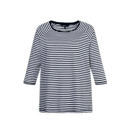 937408ba Ulla Popken Women's Plus Size Slub Jersey Striped Tee 714867 - Walmart.com