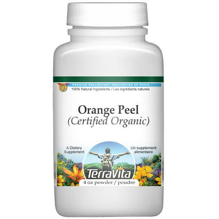 Orange Peel (Certified Organic) Powder (4 oz, ZIN: 518647) Organic Orange Peel