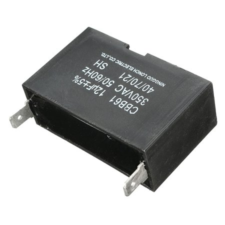 Replacement 12uF Generator Replacement Regulator Capacitor CBB61 50/ 60 Hz 350V 350 VAC 55x33x20mm