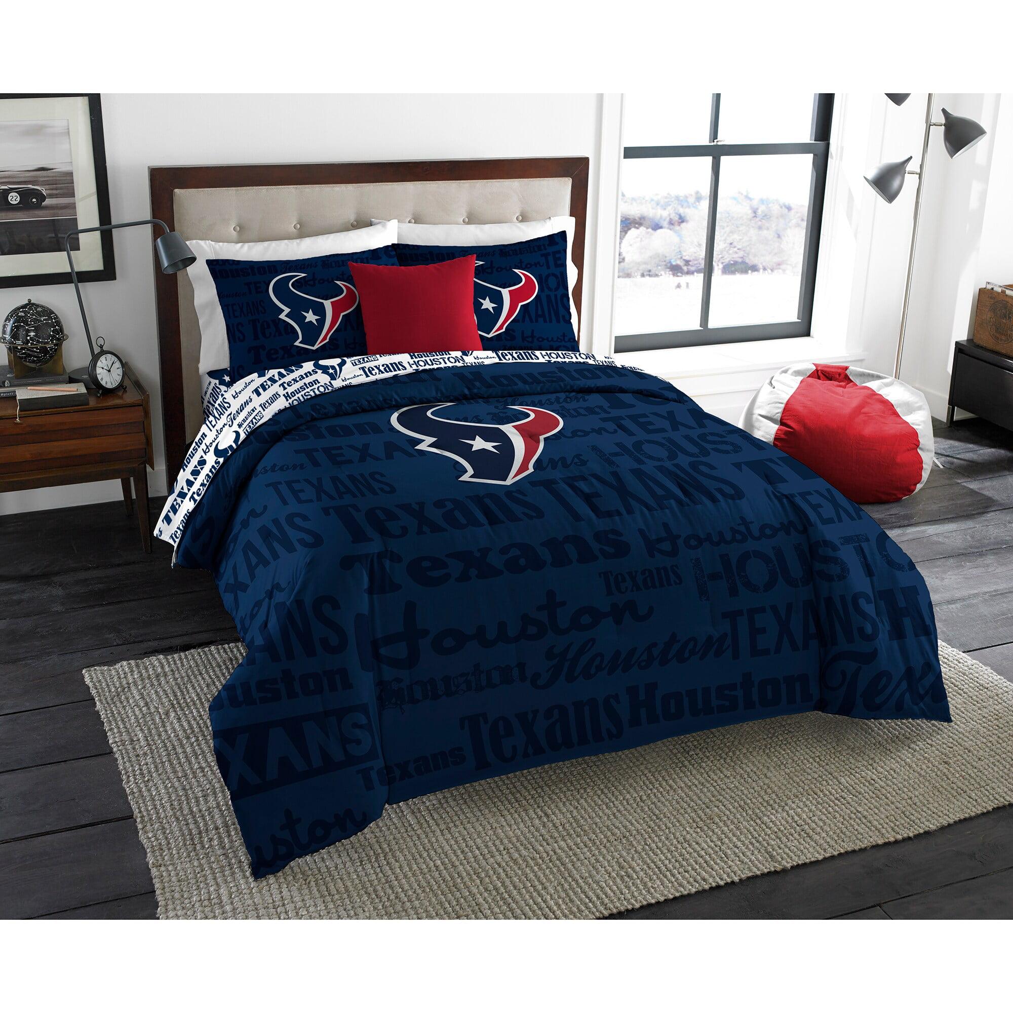 Nfl Houston Texans Bed In A Bag Complete Bedding Set Walmart Com Walmart Com