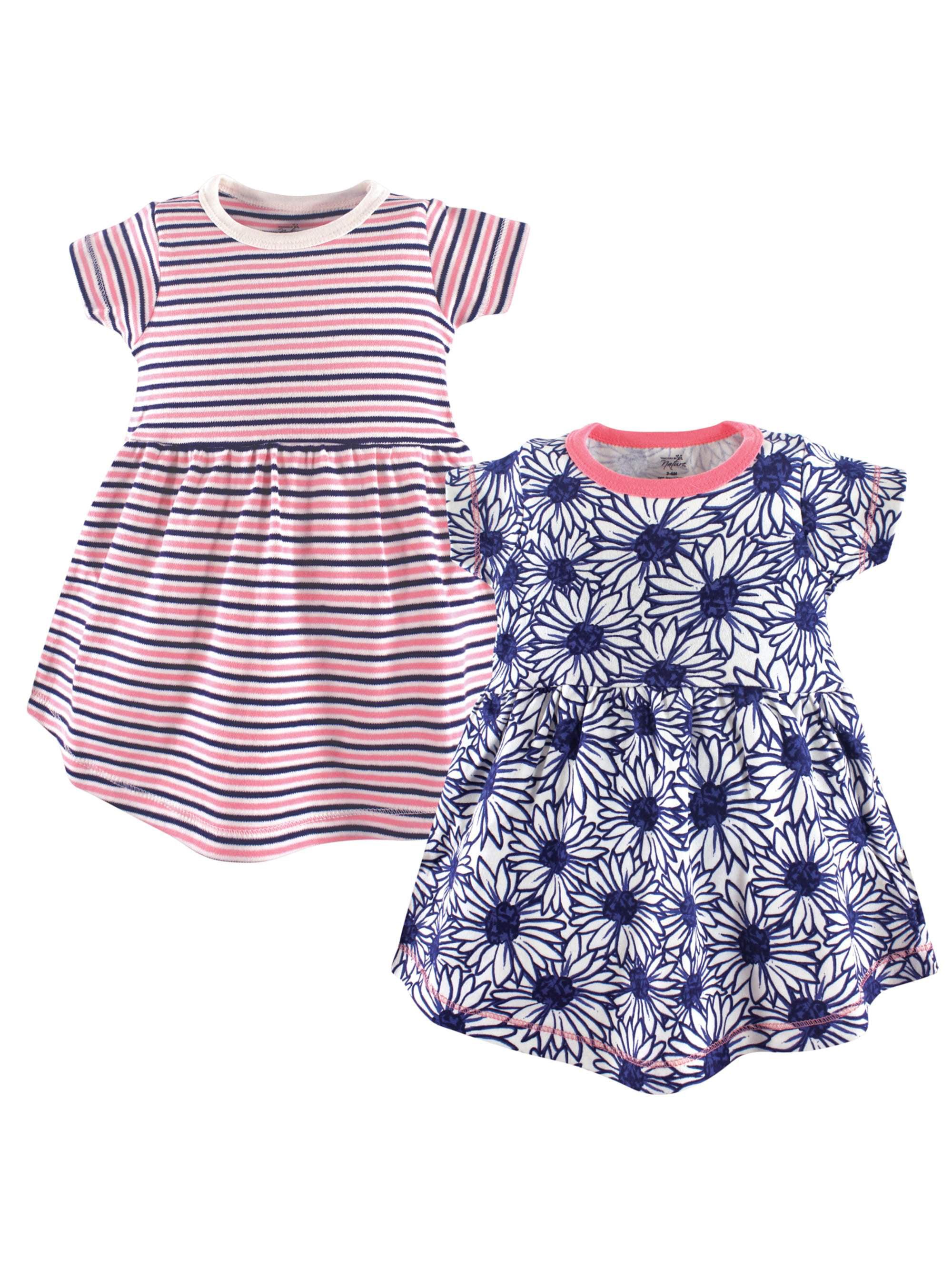 Organic Short Sleeve Cotton Dresses, 2-pack (Baby Girls)