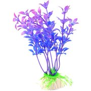 "uxcell 3.5"" Aquarium Fish Tanks Decoration Blue Purple Underwater Plastic Plants 10 Pcs"