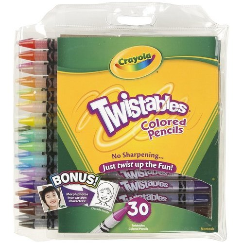 Crayola 30-Count Twistable Colored Pencils