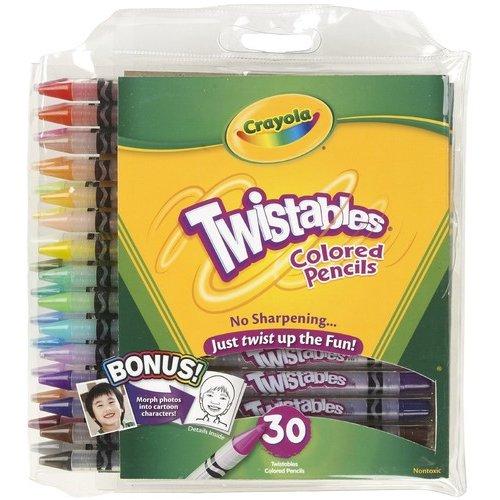 Crayola 30-Count Twistable Colored Pencils