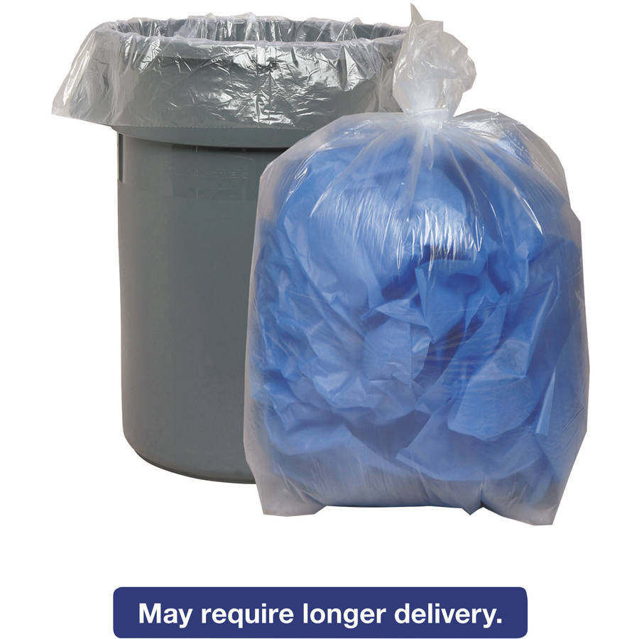 Boardwalk Super Extra-Heavy Grade 56 Gallon Trash Bags, 100 count