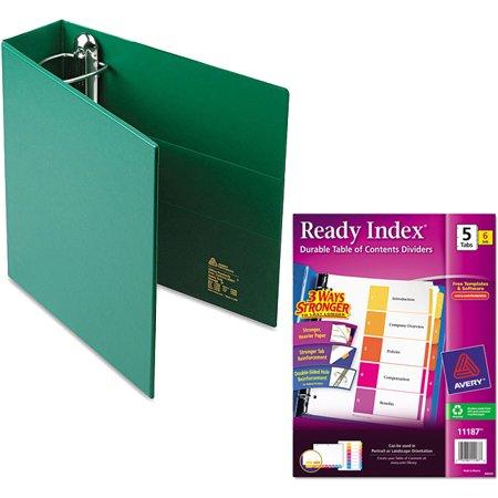 Binder Index (Avery Heavy-Duty Vinyl EZD Ring Reference Binder, 3