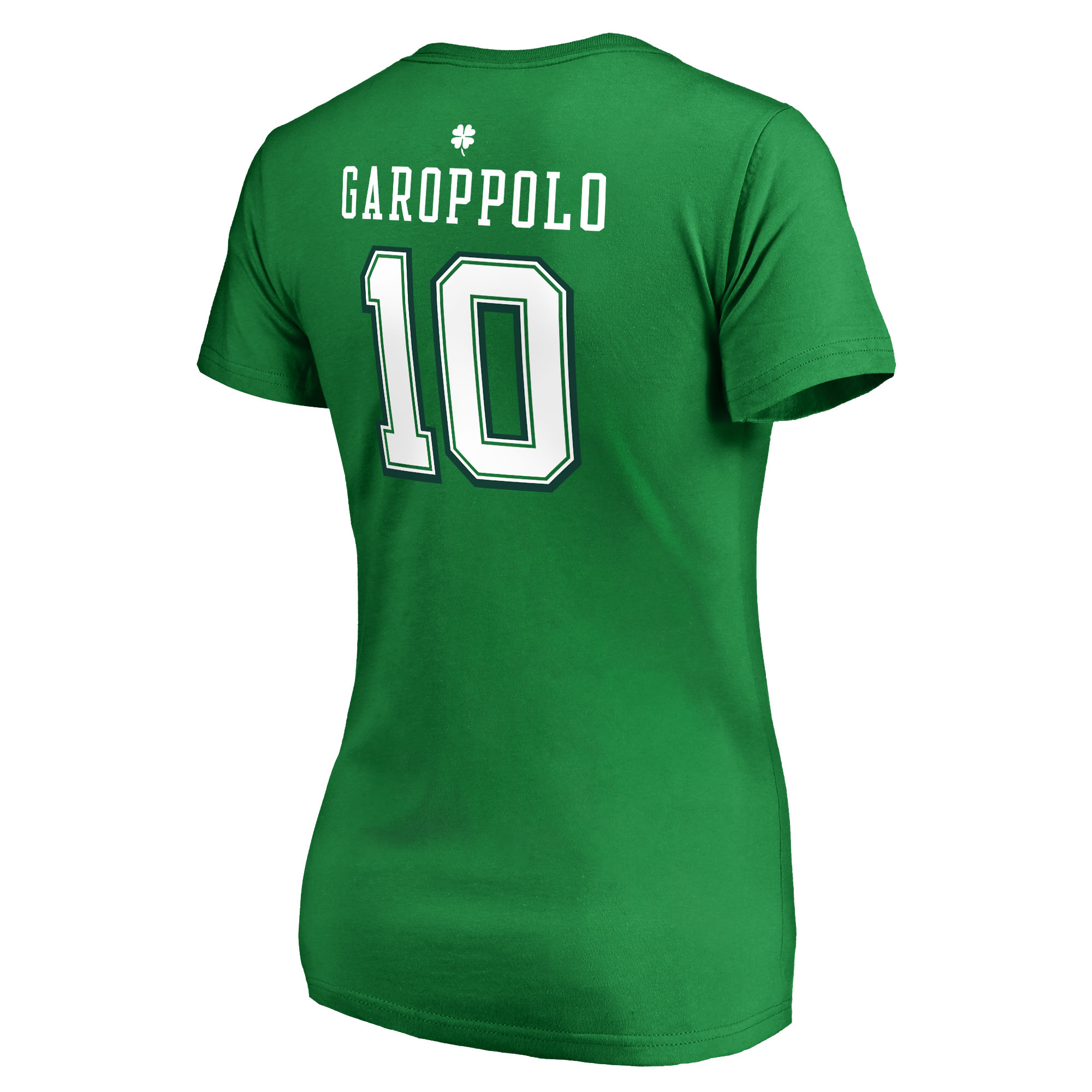 3d8e60b77 Jimmy Garoppolo San Francisco 49ers NFL Pro Line by Fanatics Branded Women's  St. Patrick's Day Icon V-Neck Name & Number T-Shirt - Kelly Green -  Walmart.com