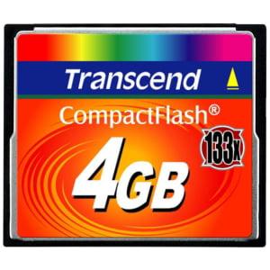 Transcend 4GB CompactFlash Card (133x) - 4 GB