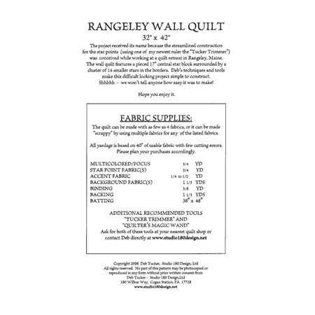 Wall Quilt (Pattern~Rangeley Wall Quilt 32'' x 42'' by Deb Tucker for Studio 180 )