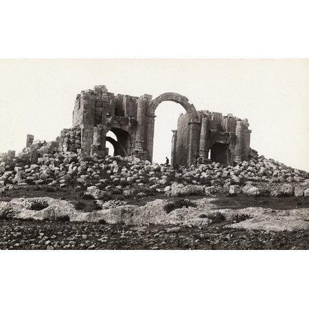 Stretched Canvas Art   Jordan  Triumphal Arch   Nruins Of A Roman Triumphal Arch At Jerash  Jordan  Photograph  C1910    Large 24 X 36 Inch Wall Art Decor Size