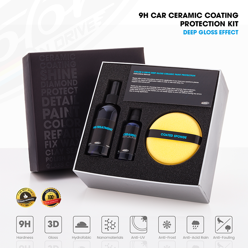 Color N Drive Car Ceramic Coating Kit 50 ml-9H Sealant Color Protection Against Scratches, Stains, Chipping And UV Light