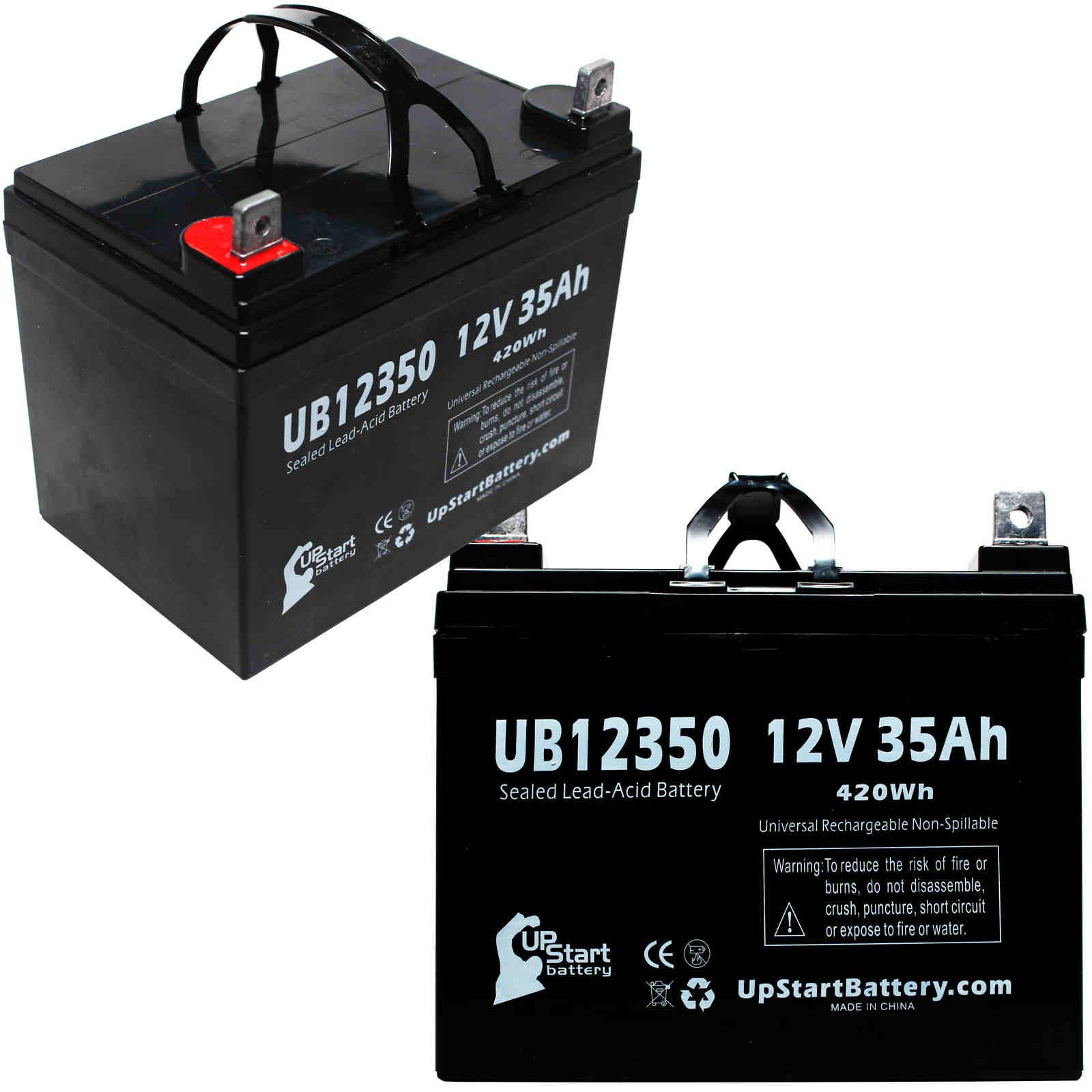 2x Pack - Sears 502.25617 Battery Replacement - UB12350 Universal Sealed Lead Acid Battery (12V, 35Ah, 35000mAh, L1 Terminal, AGM, SLA) - image 4 of 4