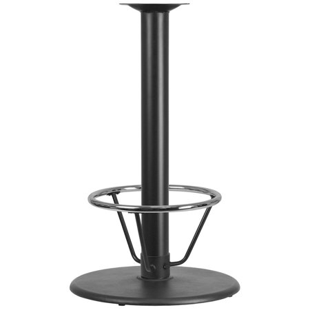 24'' Round Restaurant Table Base with 4'' Dia. Bar Height Column and Foot Ring Restaurant Table Base