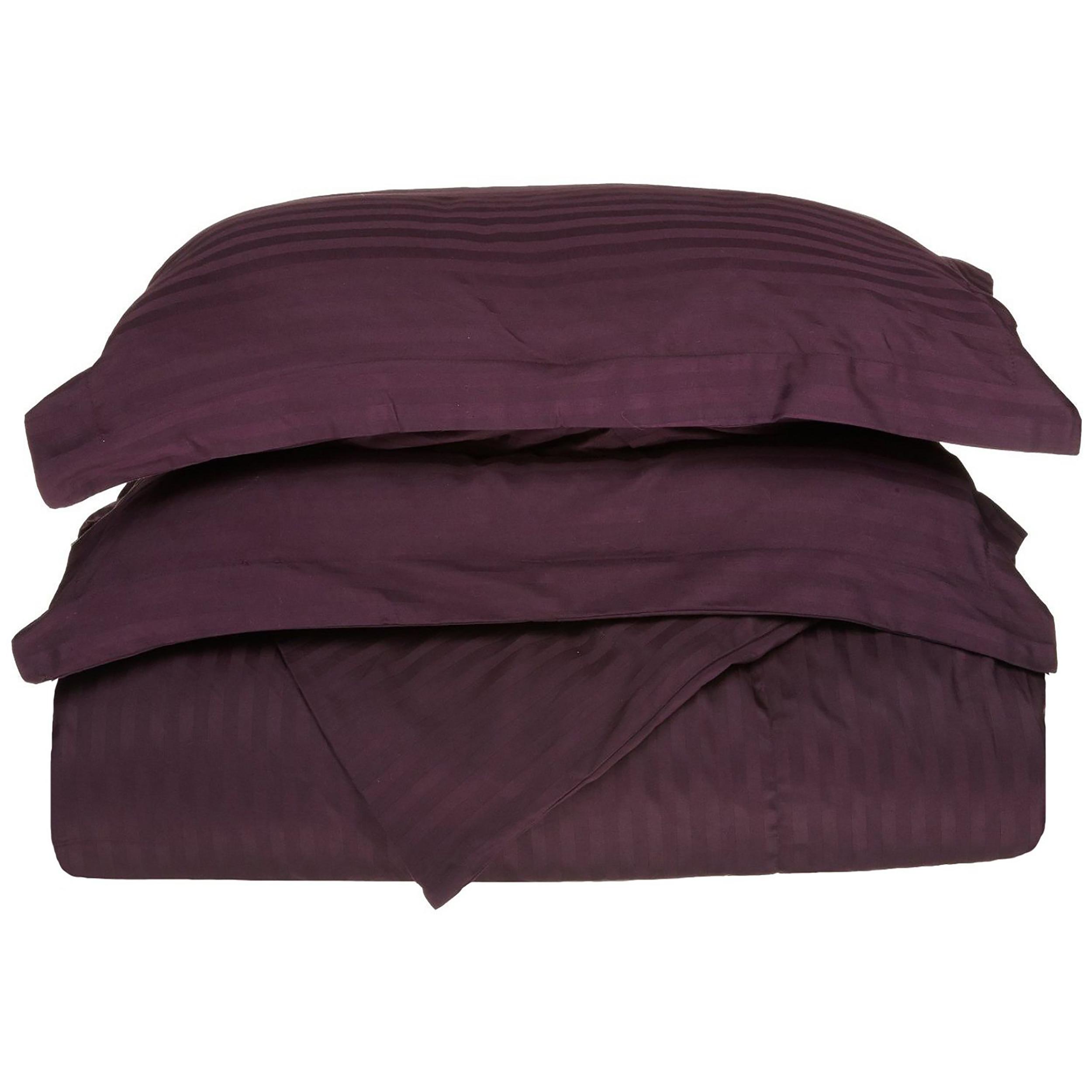 Superior 400 Thread Count 100% Premium Combed Cotton Stripe Duvet Cover Set