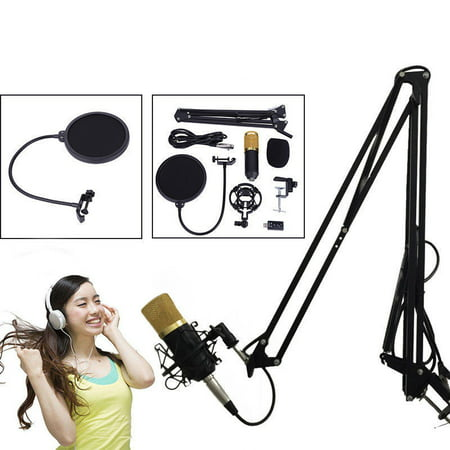 Yosoo BM800 Studio Recording Kit Blue Dynamic Condenser Microphone Mic +Shock Mount