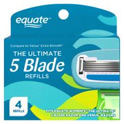 Equate The Ultimate 5 Blade Cartridges, 4 Count