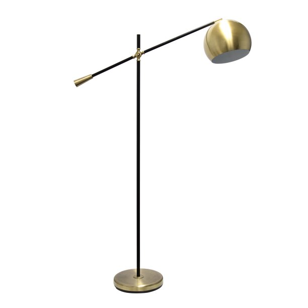 Elegant Designs Matte Black Pivot Arm Floor Lamp