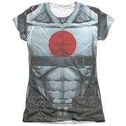 Bloodshot Shirtless Straps Juniors Sublimation Shirt