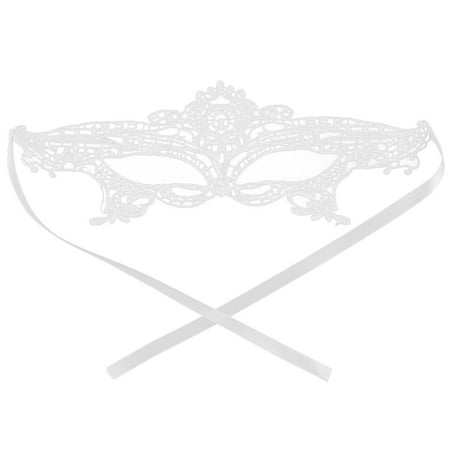 Women Sexy Costume Halloween Fancy Ball Party Dress Eyemask Lace Eye Mask White (Simple Fancy Dress Ideas For Halloween)