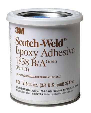 3M 1838 Epoxy Adhesive, Kit, 1 pt, Green, PK6 by 3M