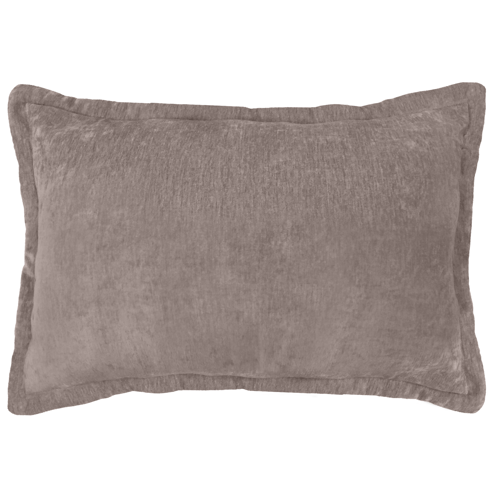 "Better Homes and Gardens, Taupe Reversible Chenille Oblong Pillow, 14"" x 20"""