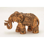 Decmode Polystone Bronze Elephant, Multi Color