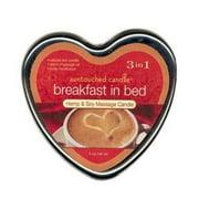 Earthly Body 3 In 1 Massage Heart Candle - Breakfast In Bed, 6.0 oz.