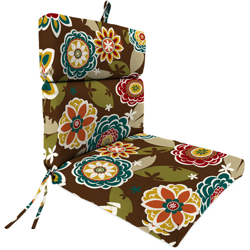 Jordan Manufacturing Outdoor Patio Replacement Chair Cushion, Annie Chocolate by Jordan Manufacturing