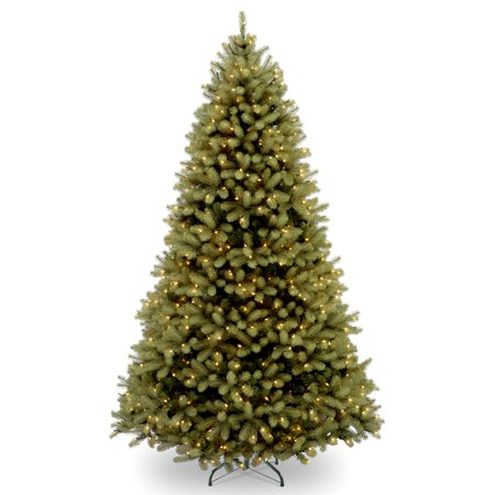 National Tree Pre-Lit 6' Feel-Real Downswept Douglas Fir Hinged Artificial Christmas Tree with 600 Clear Lights ()