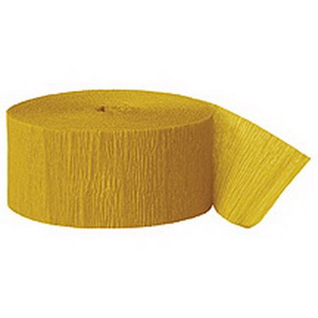 Partypro 3342 Gold Crepe Streamer - 500 Ft.