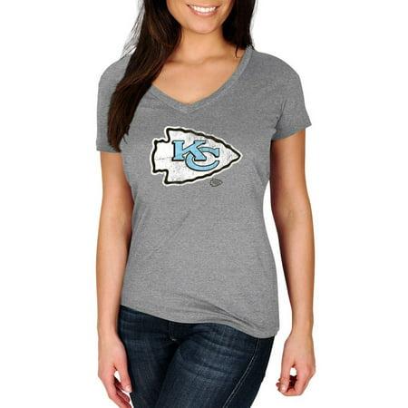 Nfl Kansas City Chiefs My Favorite Team Womens Plus Size V Neck Tee