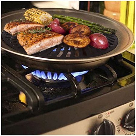 Indoor Stove top Smokeless Stainless Steel BBQ Grill Kitchen ...