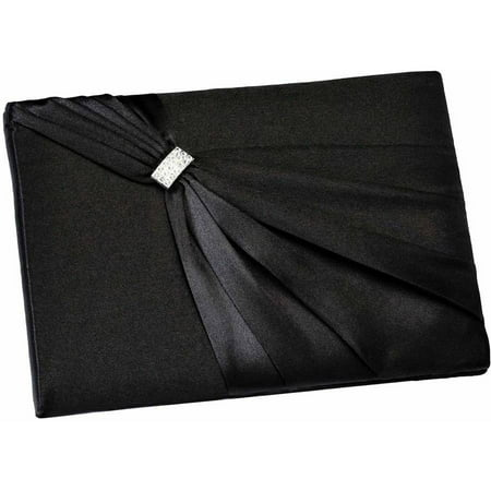 Lillian Rose Black Satin Sash Guest Book