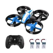 Holy Stone HS210 Mini Drone RC Nano Quadcopter Best Drone for Kids and Beginners RC Helicopter Plane with Auto Hovering, 3D Flip, Headless Mode and Extra Batteries Toys for Boys and Girls Color Blue