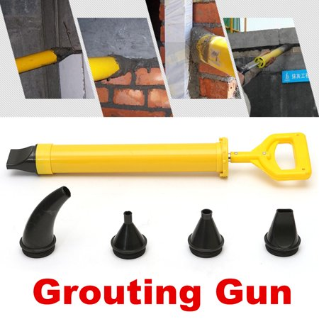 Patio Paving Grout Brick Pointing Mortar Applicator Gun Tool 5 Nozzle Gouting