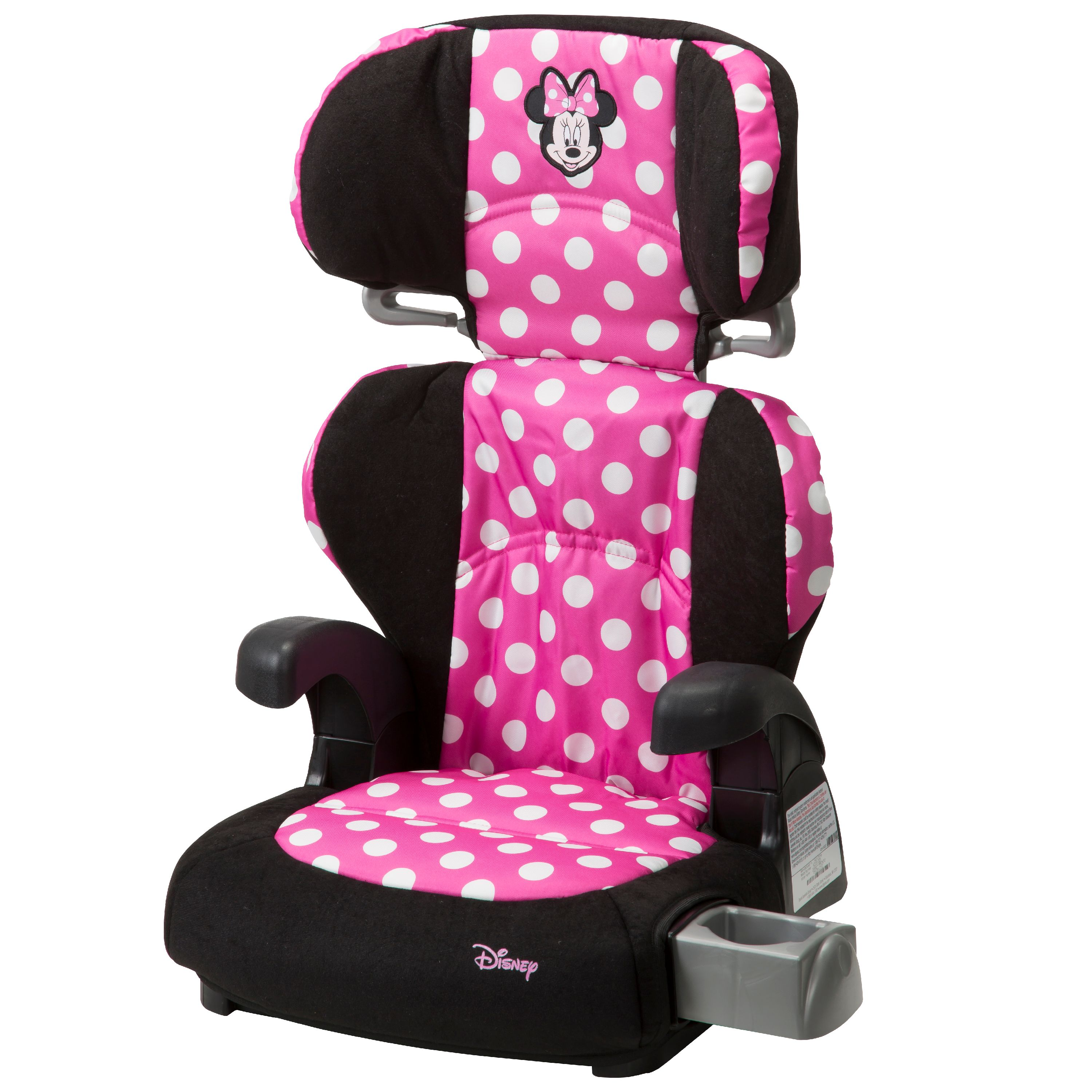 Minnie Mouse Car Seat Booster Chair Disney Combination Seat 5 Point Harness Girl