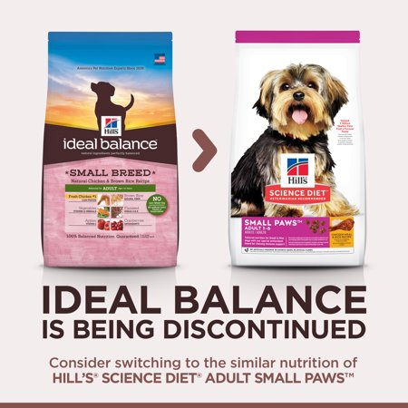 Hill's Ideal Balance Adult Small Breed Natural Chicken & Brown Rice Dry Dog Food, 15 lb bag (Natural Balance Dog Food Chicken)