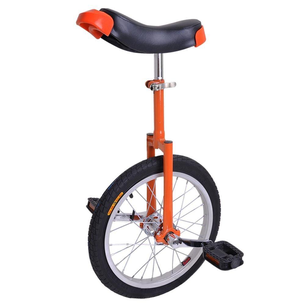 "GHP Orange Manganese Steel 16"" Wheel Skid-Proof Tire Aluminum Alloy Rim Unicycle"