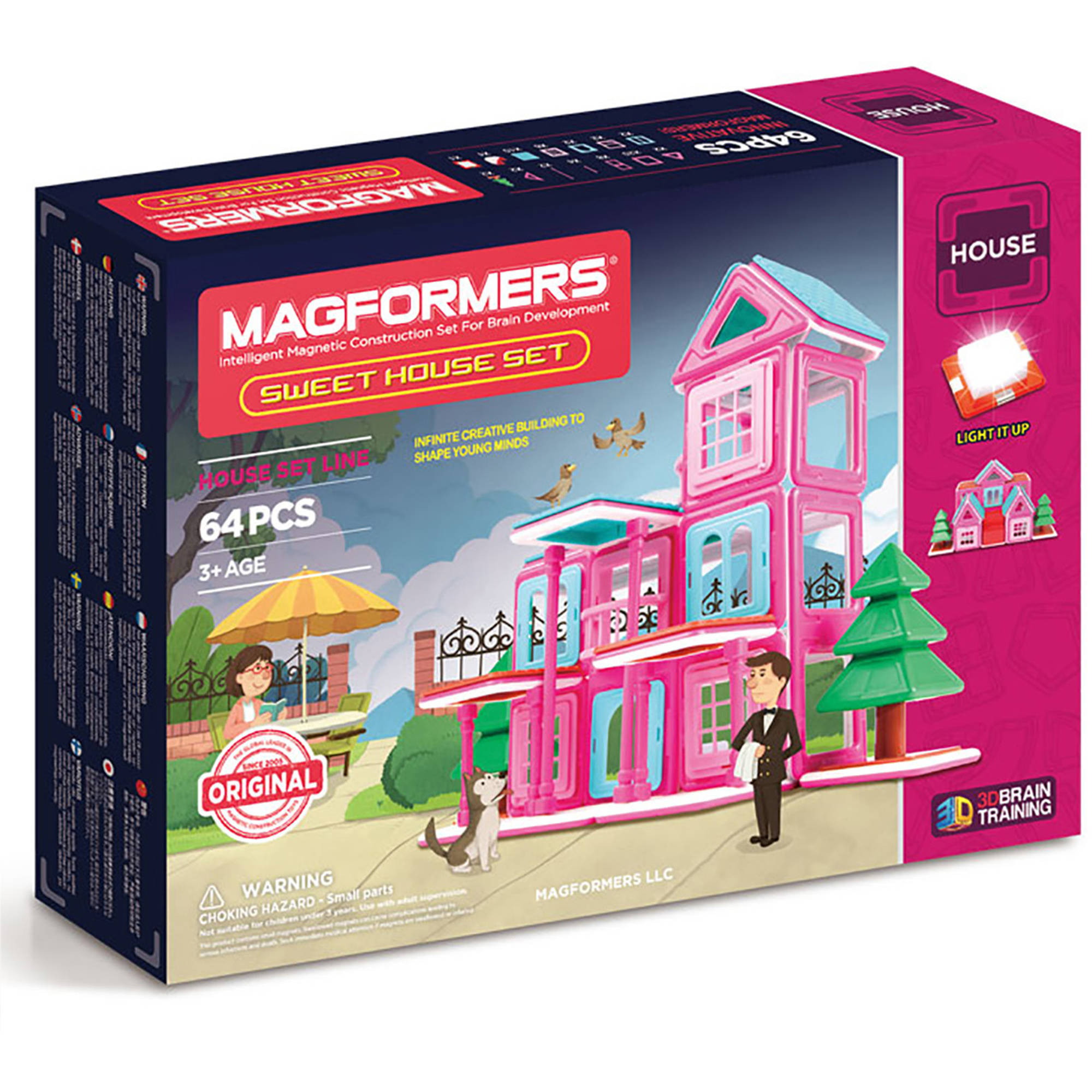 MagFORMERS Sweet House 64-Piece Magnetic Construction Set by Magformers