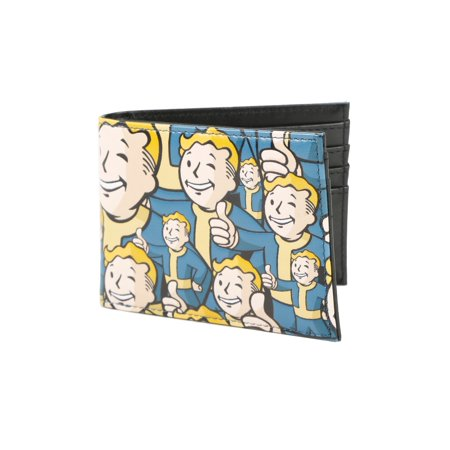 Fallout Vault Boy Allover Print Classic Bioworld Wallet (Fall Out Boy Valentine Cards)