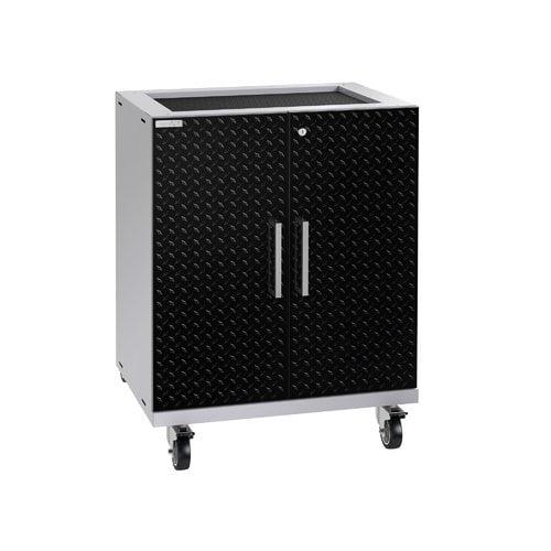 NewAge Products Performance Plus 2.0 Diamond Plate Black Base Cabinet