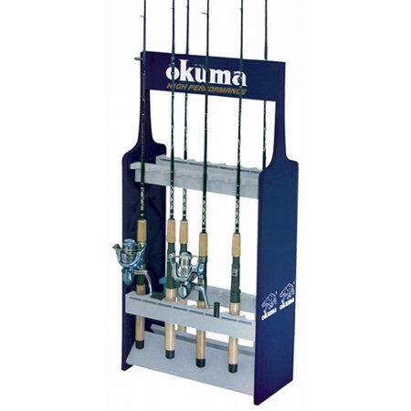 Okuma Fishing Rods Holder Storage Stand-16 Poles Rod Rack or Wall Mounted