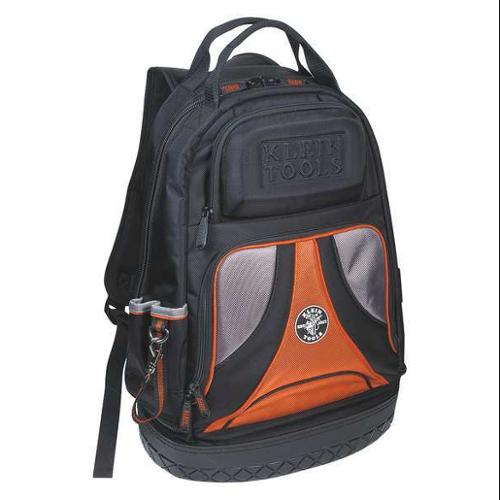 Klein Tools Tool Backpack, Polyester, Black/Orange, 55421BP14