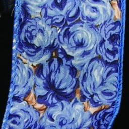 Blue Roses Print Cotton Wired Craft Ribbon 2 X 40 Yards Walmart Com Walmart Com